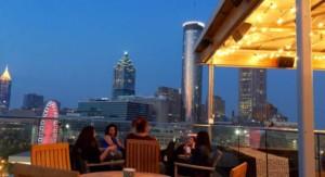 rooftop seating overlooking Atlanta